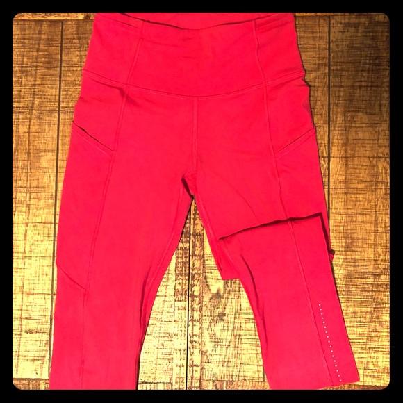 "lululemon athletica Pants - Lululemon Fast and Free Crop II ""19  Size 4"